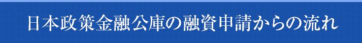 日本政策金融公庫の融資申請からの流れ
